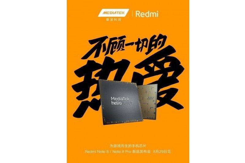 redmi note 8, note 8 pro trang bị chip mediatek sắp ra mắt