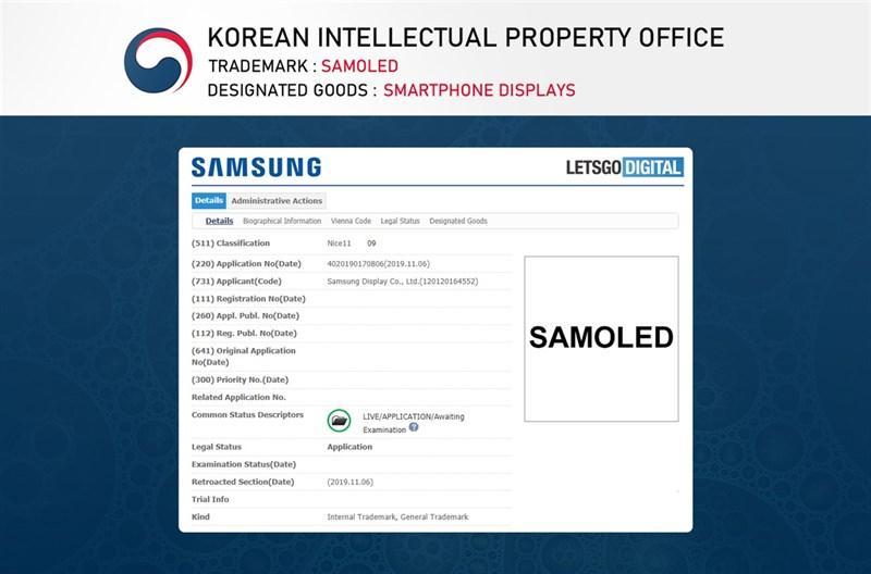 Samsung đăng ký thương hiệu màn hình mới cho Galaxy S11?