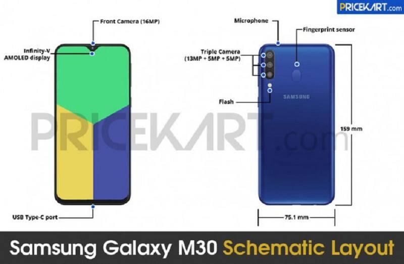 samsung galaxy m30 lộ cấu hình và hình ảnh mới