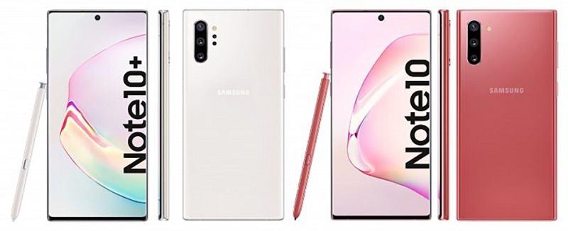 samsung galaxy note 10 plus màu trắng, hồng