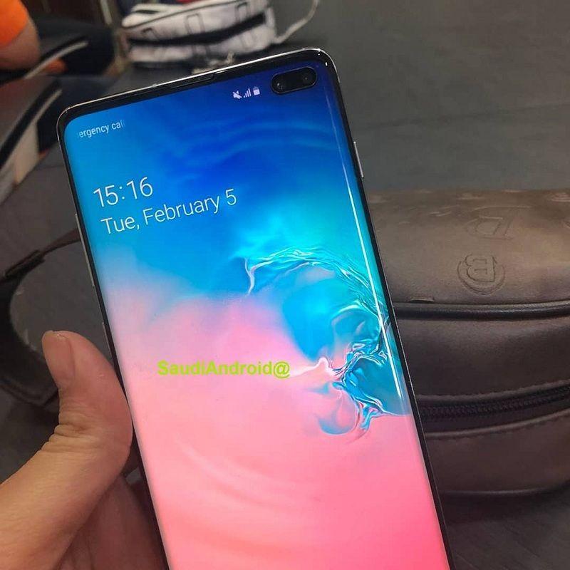 samsung gaalxy s10, s10 Plus lộ ảnh trên tay màn hình