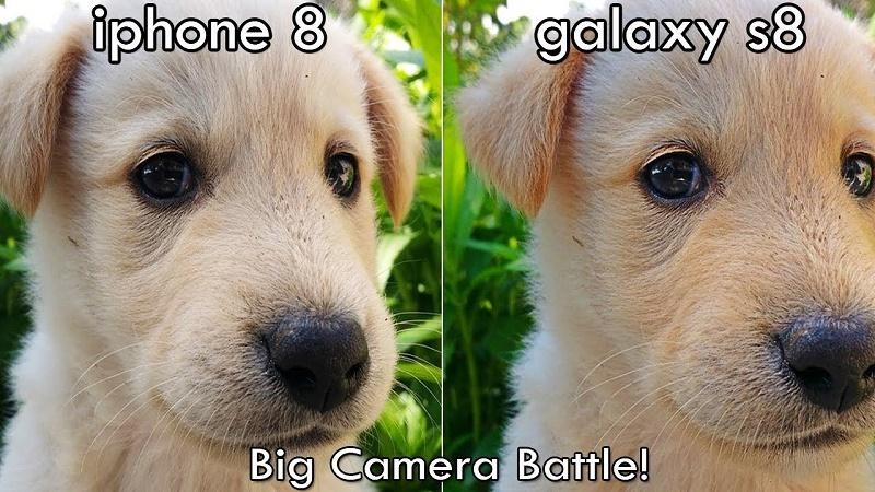 samsung galaxy s8 iphone 8 chất lượng ảnh