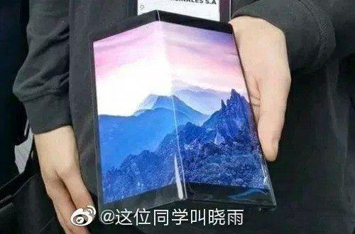 lộ ảnh thực tế smartphone màn hình gập của Huawei