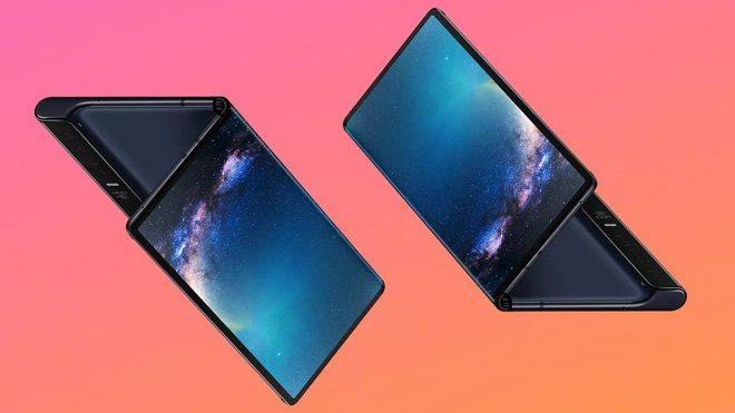 ảnh concept smartphone màn hình gập giá rẻ của Huawei