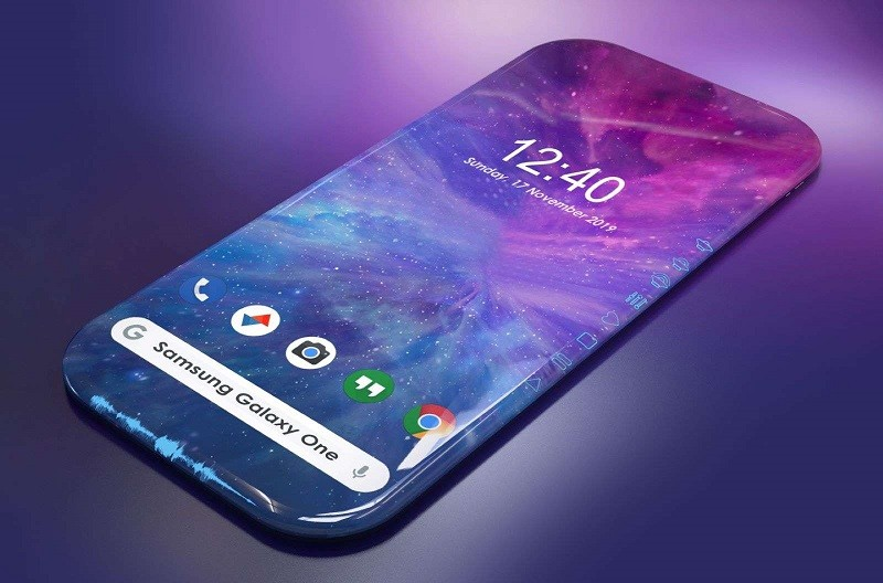Thiết kế concept của chiếc smartphone 4 cạnh uốn cong
