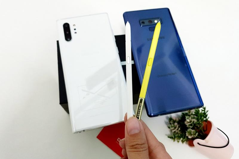 so sánh note 9, note 10 bút s pen