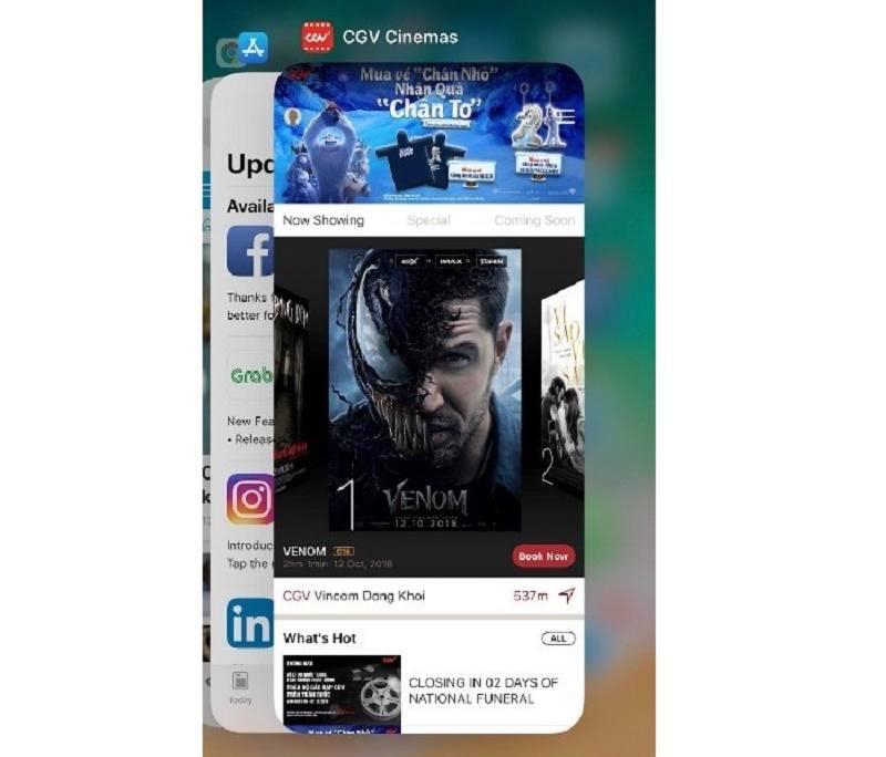 tắt ứng dụng trên iPhone xs max đơn giản nhiều ứng dụng cùng lúc