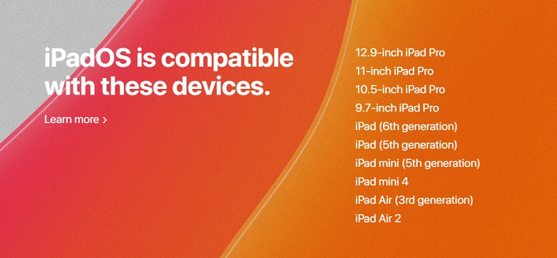 thiết bị nâng cấp ios 13 ipad