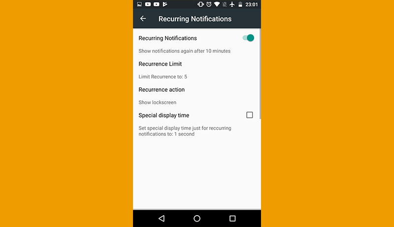 thông báo smartphone android recurring notifications