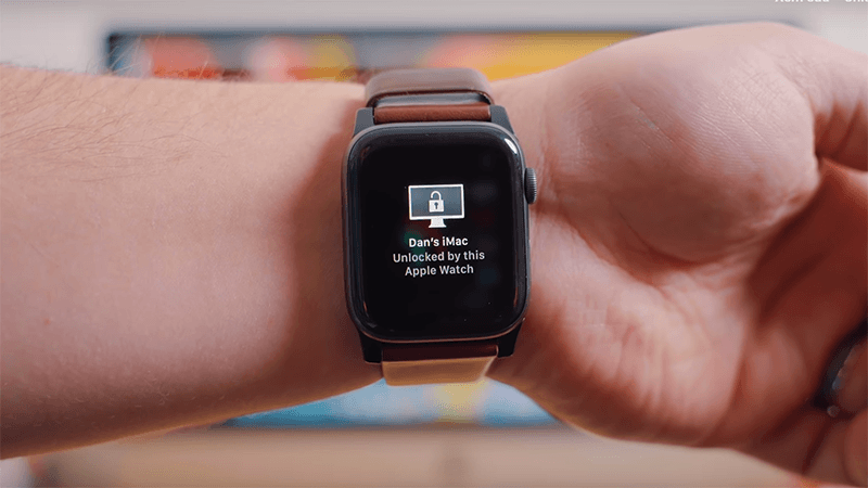 dùng apple watch mở khóa máy tính mac