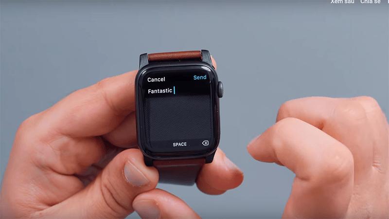 soạn tin nhắn trên apple watch