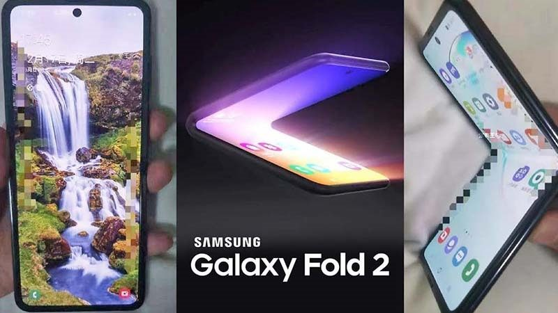 video samsung galaxy fold lộ diện
