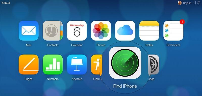 xóa dữ liệu từ xa trên iphone tìm iphone