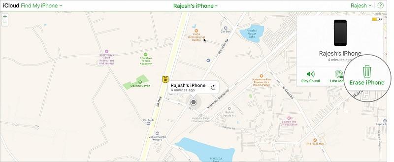 xóa dữ liệu từ xa trên iphone xóa iphone