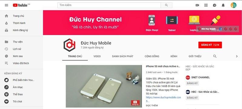 youtube đức huy mobile
