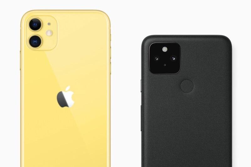 so sánh pixel 5, iphone 11 camera