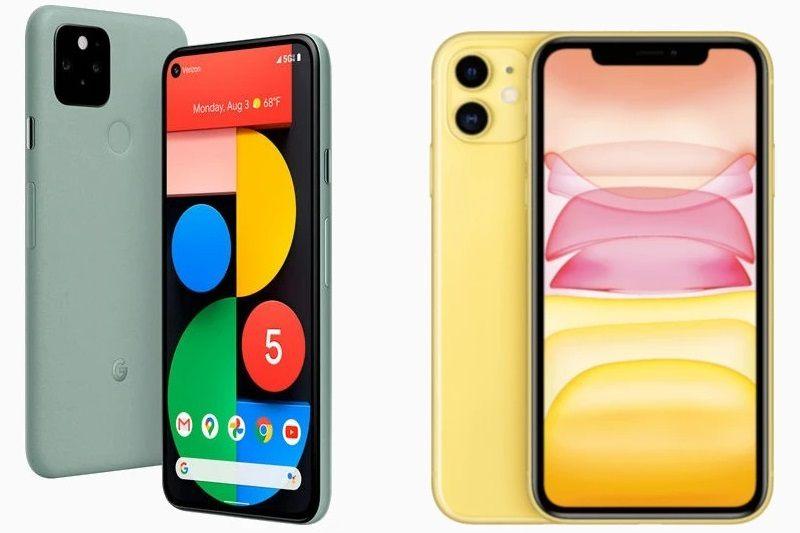 so sánh pixel 5, iphone 11 cấu hình