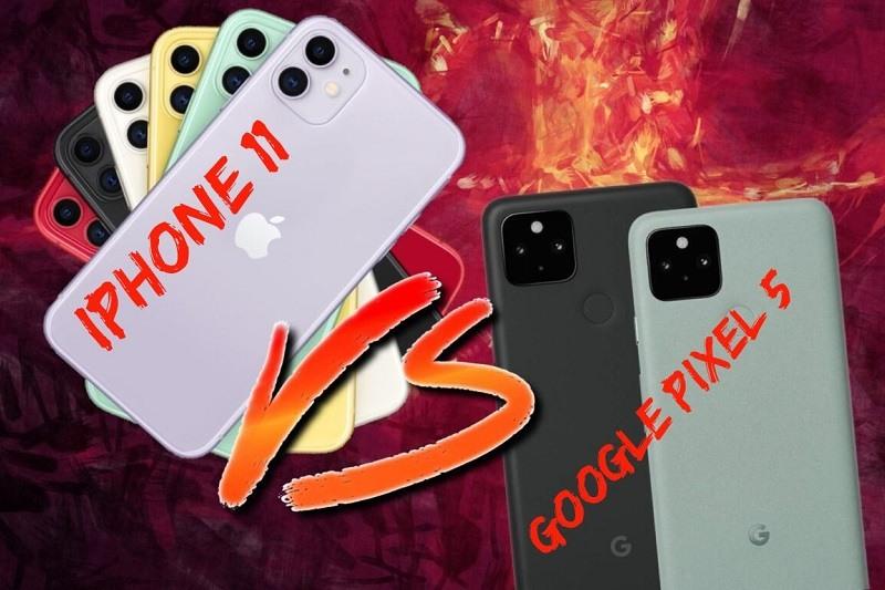 so sánh pixel 5, iphone 11