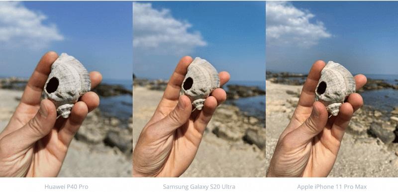 chụp ảnh vỏ sò
