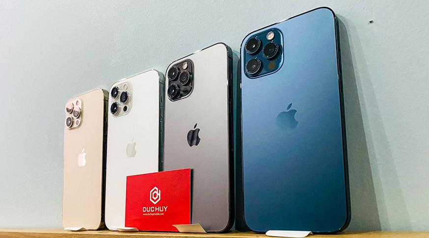 các màu iphone 12 pro max 512gb
