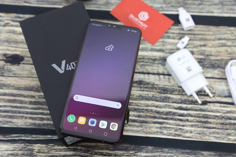 đánh giá lg v40 thinq màn hình