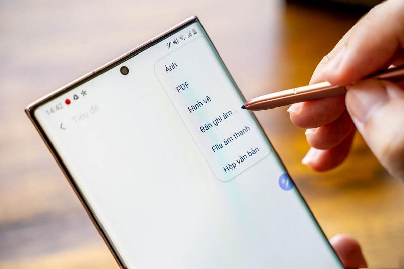 galaxy note 20 ultra công ty so sánh bút s pen ghi âm