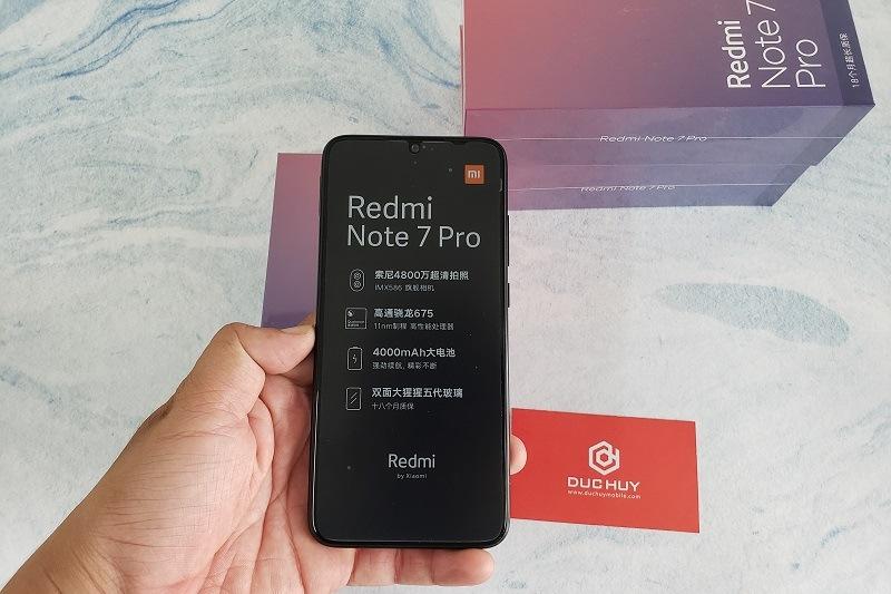 đập hộp xiaomi redmi note 7 pro màn hình