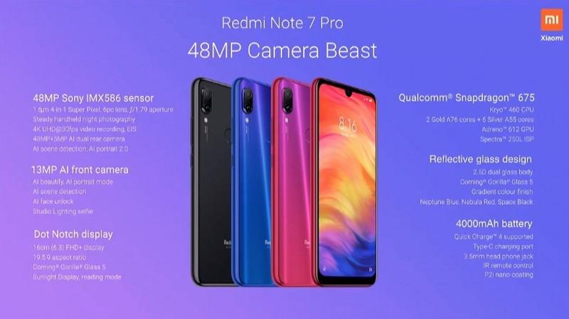 xiaomi redmi note 7 pro chính thức ra mắt cấu hình