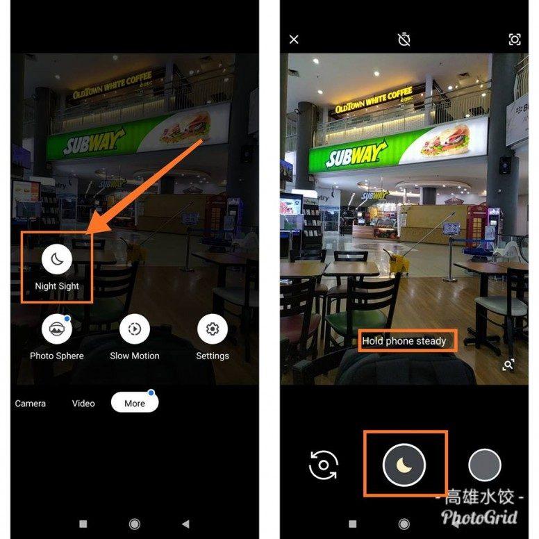 google camera redmi note 7 chế độ ban đêm