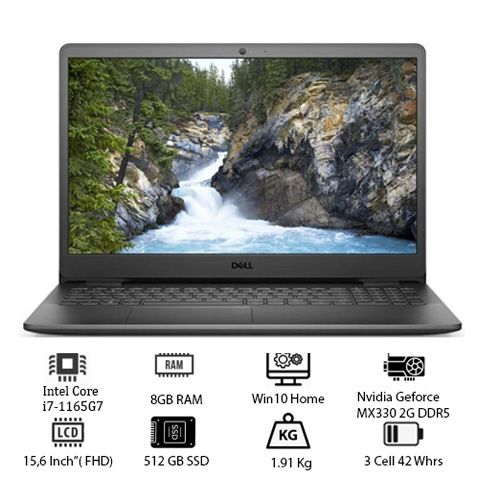 Laptop Dell Inspiron 3501(70234075) (i7 1165G7 8GB RAM/512GB SSD/MX330 2G/15.6 inch FHD/Win10/Đen)