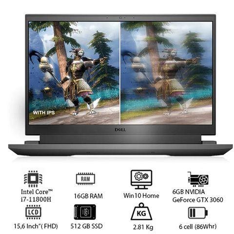 Laptop Dell Inspiron G15 5511 (70258055) (i7-11800H/16GB RAM/ 512GB SSD/GTX 3060 6GB/15.6 inch FHD/Win 10/Xám)