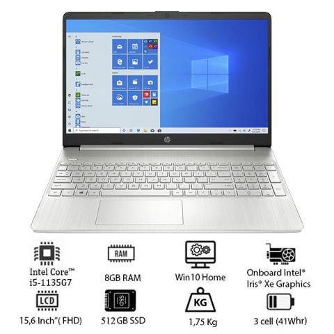 Laptop HP 15s-eg0539TU (4P5G6PA) (i5 1135G7/8GB RAM/256GB SSD/15.6 FHD/Win10/Bạc)
